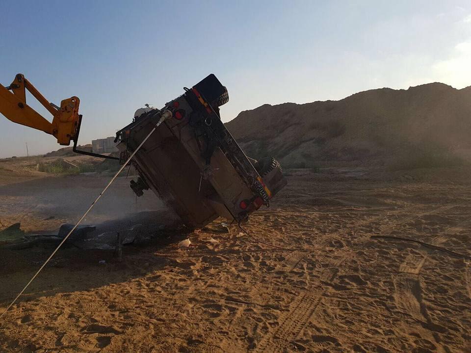 مقتل جندي وإصابة 3 في انقلاب جيب على حدود غزة