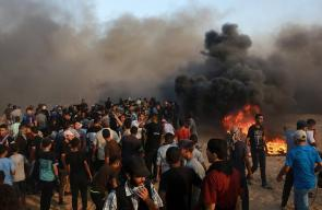 جمعة عائدون رغم أنف ترامب ضمن مسيرات العودة شرق قطاع غزة