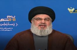 نصرالله: لن نتخلى عن صواريخنا وأهل غزة يجددون الأمل ولن يخذلهم المطبعون