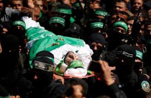 من مراسم تشييع جثمان الشهيد القائد #مازن_فقهاء في مدينة غزة ظهر اليوم .