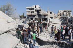 دمـار وضحايا جراء الغارات الجويـة المكثـفة على قرى ومدن ريـف إدلب شمالي سوريا