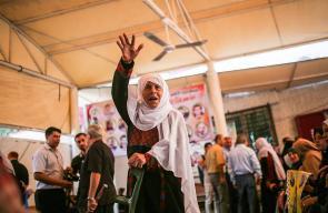 الاعتصام الأسبوعي لأهالي الأسرى الفلسطينيين أمام مقر الصليب الأحمر في غزة