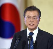 955726-رئيس-كوريا-الجنوبية-مون-جيه-إن-خلال-مؤتمر-الـ-100-يوم