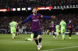 ميسي يهدي برشلونة لقب الليجا الـ 26