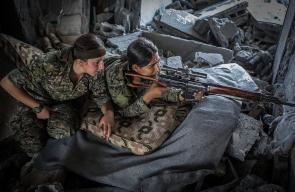 مشاهد من الاشتباكات بين قوات سوريا الديمقراطية