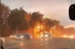 صاعقة تضرب أسلاكا كهربائية في مدينة روسية