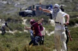 مواطنون يتصدون لمحاولة مستوطنين مهاجمة خان اللبن الشرقية جنوب نابلس