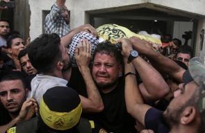 تشييع حاشد لشهيدي جمعة شهداء القدس