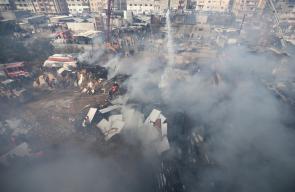 وفاة 9 مواطنين وعشرات الإصابات وأضرار مادية كبيرة نتيجة حريق ضخم بمخيم النصيرات