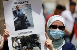 مسيرة برام الله ضد قرار الاحتلال تنفيذ خطة الضم