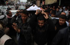 تشييع جثمان الشهيد يوسف أبو عاذرة 18 عاماً إلى مثواه في مقبرة رفح جنوب قطاع غزة
