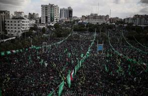 مهرجان جماهيري حاشد في الذكرى الثلاثين لانطلاقة حماس