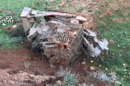 إصابة جنديين اسرائيليين بجراح إثر انقلاب آلية بشمال فلسطين