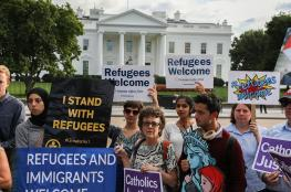 وقفة أمام البيت الأبيض احتجاجا على خفض عدد اللاجئين