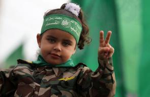 مشاركة الأطفال في مهرجان انطلاقة حركة حماس