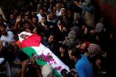 تشييع جثمان الشهيد أبو خاطر في خانيونس