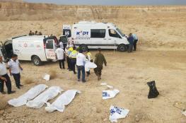 مصرع 8 إسرائيليين جراء انجراف حافلة بفعل السيول في النقب المحتل