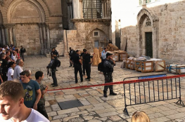 انهيار جزء من سقف كنيسة القيامة في القدس