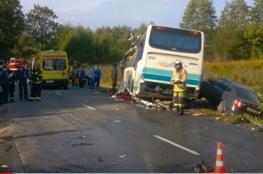 سبعة قتلى بينهم طفل بتصادم حافلة ركاب وشاحنة في مقاطعة كالينينغراد الروسية