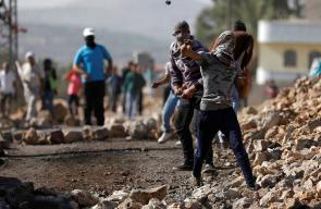 المواجهات التي اندلعت في بلدة كفر قدوم شرق قلقيلية