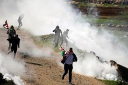مواجهات مع الاحتلال خلال مسيرة مناهضة للاستيطان في بيت دجن