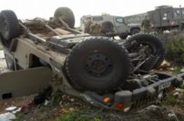 إصابة جندي ومستوطن في حادث طرق خلال تدريبات عسكرية