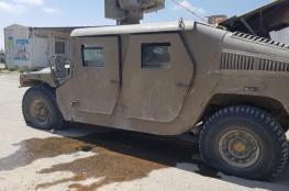 الاحتلال: إصابة مركبة عسكرية إسرائيلية جراء إطلاق طائرة مسيرة عبوة ناسفة تجاهها