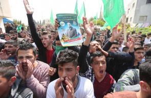 الجماهير الفلسطينية في مدينة طوباس تخرج في مظاهرة تنديداً بجريمة اغتيال الشهيد مازن فقهاء