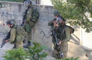 مواجهات بين الشبان وقوات الاحتلال في جيوس شرق قلقيلية.