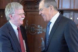 لافروف يبحث مع بولتون استقرار سوريا وقضايا استراتيجية