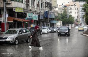 الأجواء الماطرة في مدينة غزة