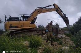 الاحتلال يهدم ثلاثة منازل قيد الإنشاء في رمانة غرب جنين