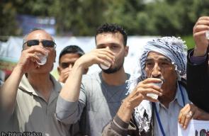 وقفة تضامنية مع الأسرى المضربين عن الطعام في سجون الاحتلال بمدينة غزة