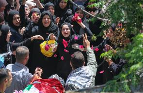 تشييع جثمان الشهيد الأسير نور البرغوثي في رام الله