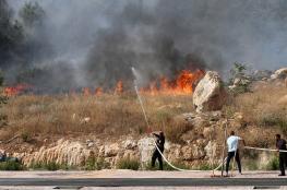 البالونات الحارقة تُشعل حقول الاحتلال في غلاف غزة