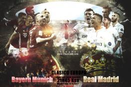 بث مباشر: مباراة ريال مدريد وبايرن ميونخ في دوري أبطال أوروبا