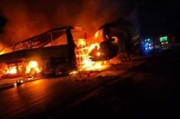 مصرع 20 شخصا بحادث سير مأساوي في مصر