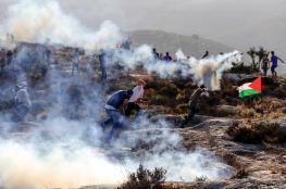 12 إصابة برصاص الاحتلال بمواجهات في راس كركر غرب رام الله