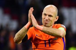 الهولندي روبين يعتزل اللعب الدولي بعد فشل التأهل للمونديال