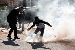 إصابة شاب بالرصاص المعدني بمواجهات شرق قلقيلية