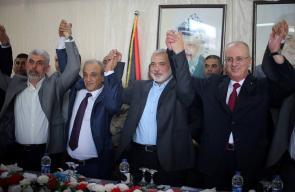 قيادة حركة حماس تلتقي الحكومة الفلسطينية والفصائل في غزة