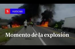 . مصرع 7 أشخاص في انقلاب صهريج بنزين شمالي كولومبيا
