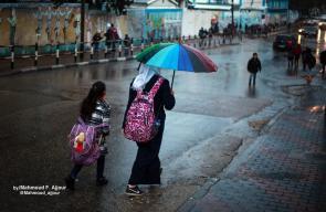 الأجواء الماطرة في غزة
