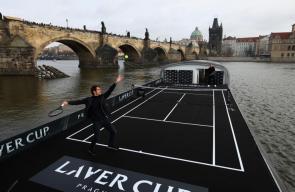 لقطات ترويجية لبطولة كأس ليفر للتنس التي تقام للمرة الأولى في العاصمة التشيكية براغ