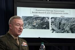 البنتاغون: الضربات في سوريا أصابت أهدافها بنجاح والأسد ما زال يحتفظ بأسلحة كيميائية