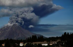 بركان مارابي في جزيرة سومطرة الإندونيسية