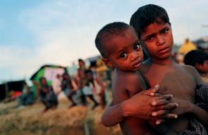 أطفال مسلمي الروهينغا معرضون للموت بسبب الجوع والنوم في العراء