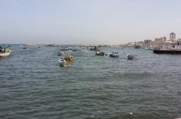 بحرية الاحتلال تطلق النار على مراكب الصيادين في بحر غزة