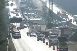 بالفيديو.. تصادم عشرات السيارات في حادثة سير بولاية فرجينيا