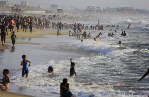 بحر غزة في الأجواء الحارة